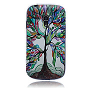 Tree Pattern TPU Soft Back Cover Case for Samsung S3 Mini I8190N