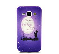I Love You to the Moon and Back Pattern 0.6mm Ultra-Thin Case for Samsung Galaxy  J100/J1 4G