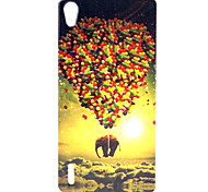 Elephant Balloon  Pattern TPU Soft Cover for  Huawei P7