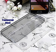 Invisible Transparent Silicone Shell Phone Models For Samsung Galaxy S6 Edge(Black)