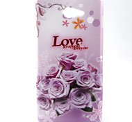 Pink Love Pattern Soft TPU Case for Sony Xperia M2