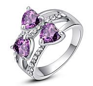 Массивные кольца Кристалл Имитация Алмазный Сплав Мода Классика Лиловый Радужный Прозрачный Бижутерия Для вечеринок 1шт