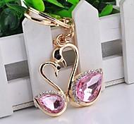 porte-clés de diamants de cygne