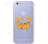 iPhone 6 - Per retro - per Cartone animato/Design/Transparente/Innovativa/Ultra sottile/Zoo/Segurando/Comendo Logo da Apple ( Multicolore