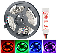 HML Dual-Row 5M Non-Waterproof 600 x 5050 SMD RGB Light LED Strip Lamp with HML RGB controller Set (12V)