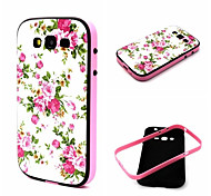 White Flowers Pattern TPU Back Cover with PC Bumper Shockproof Soft Case for Samsung Galaxy  Grand  I9082