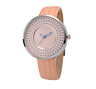 big dial fashion ladies watch with charming stones