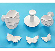 FOUR-C Butterfly Cake Plunger Cutters,High Quality Fondant Tools,Pastry Cutter Cake Tools Set