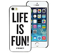Life is Fun Design PC Hard Case for iPhone I4