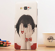 3D Cover Back Case for Samsung Galaxy A5 Plastic Shine Case Special Design/Diamond Look Shy Girl