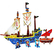 DIY Pirate Ship Shaped 3D Puzzle