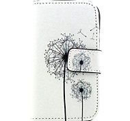 Dandelion  Pattern PU Leather Case with Magnetic Snap and Card Slot for Samsung S3 Mini I8190N