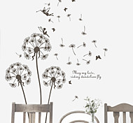 Romantic Flying Dandelion PVC Wall Stickers Wall Art Decals