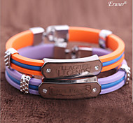 Euner® LOL Online Game Alloy Bracelet LOL Silicone Wristband For Men