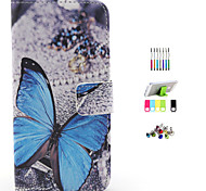 The Butterfly Pattern Full Body Case with Stylus ,Anti-Dust Plug and Stand for iPhone 6