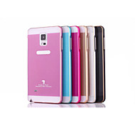 High-Grade Metal Arc Double Color Frame and Plastic Back Cover for Samsung Note 4 (Assorted Colors)