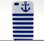 The Horizontal Grid Ship Pointing Pattern TPU Soft Case for iPhone 4/4S