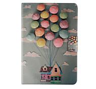 caso corpo full house balão padrão de couro pu com suporte para iPad mini 1/2/3