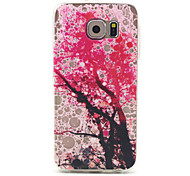 Pink Tree Pattern Ultrathin TPU Soft Back Cover Case for Samsung Galaxy S6