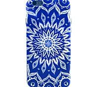 patrón de flor del sol de TPU suave para 5c iphone
