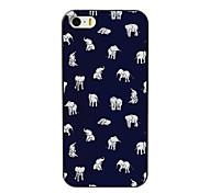 belle étui rigide petit dessin pc éléphant pour iPhone 4 / 4S