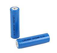 3.7V Rechargeable 1000mAh 14500 Lithium Ion  Battery (2pcs)