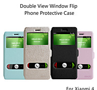 EXCO PU Leather Open Window View Flip Stand Cover Case for Xiao Mi 4