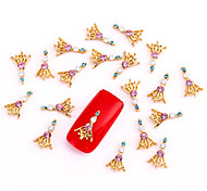 10PCS Gold Nail Art Jewelry Magic Rhinestones Aryclic Nail Tips Decorations Nail Art Glitters for Nails