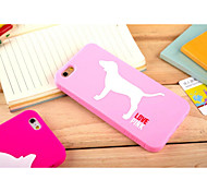 Silicone Material Lovely Dog Style for iPhone 6 (Assorted Colors)