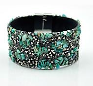 Fashion Handmade Crystal Bohemia Beach Magnet Clasp Bracelets