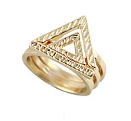 Wholesale Gold Plated Women Ring Set