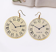 Fashion Cute Clock Alloy Drop Earrings
