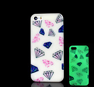 Diamond Pattern Glow in the Dark Cover for iPhone 4 / iPhone 4 S Case
