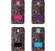 matière plastique et de silicone avec le style de la forêt de stent de shell pour Galaxy Note 3 (couleurs assorties)