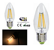 ONDENN E26/E27 4 W 4 COB 400 LM 2800-3200K K Warm White A Dimmable Candle Bulbs AC 220-240/AC 110-130 V