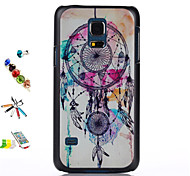 Campanula Pattern PC Material Shell And Touch Pen Dust Plug Bracket Assembly for Samsung Galaxy S5 mini
