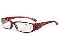 [Free Lenses] Plastic Oval Full-Rim Reading Eyeglasses