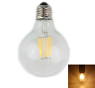 Zweihnder E27 6W 550LM 2700-3000K 6xLEDs Warm Light Tungsten Filament Lamp (AC 85-265V,1Pcs)