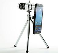 Abnehmbare 12X Teleobjektiv mit Tasche für Samsung Galaxy i9500 S4 Set