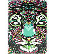 The Tiger Pattern PU Leather Case Cover with Stand and Card Holder for Samsung Galaxy Tab 4 10.1 T530