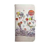 Hot Air Balloon Pattern PU Leather Case with Stand for Samsung Galaxy S3 MINI I8190