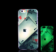 Poker Pattern Glow in the Dark Case for iPhone 6 Cover