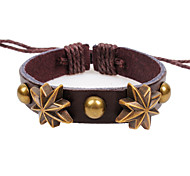 2015 Octagonal Shaped Rivet Leather Bracelet Fashion Accessories