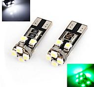 2 Stück ding yao Dekorativ Lichtdekoration T10 5 W 1200 LM K 8 High Power LED Kühles Weiß/Rot/Blau/Gelb/Grün DC 12/DC 24 V