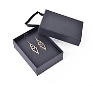 Fashion Women Stone Set Drop Earrings With Gift Box