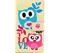 Full Body Wallet / Card Holder / with Stand Owl PU Leather Hard Case Cover For NokiaNokia Lumia 830 / Nokia Lumia 640 / Nokia Lumia 630 /