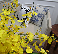 "L32.7"" Yellow Orchid For Home Decorative Floral Display"