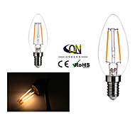 ONDENN E14 2 W 2 COB 200 LM 2800-3200K K Warm White A Dimmable Candle Bulbs AC 220-240 V