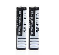 ullra 3.7v 4500mAh fira 18650 batería de iones de litio recargable (2pcs)