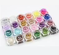 nail art paillettes de photothérapie de gel de couleur du diamant démontable (8 ml, couleurs assorties)